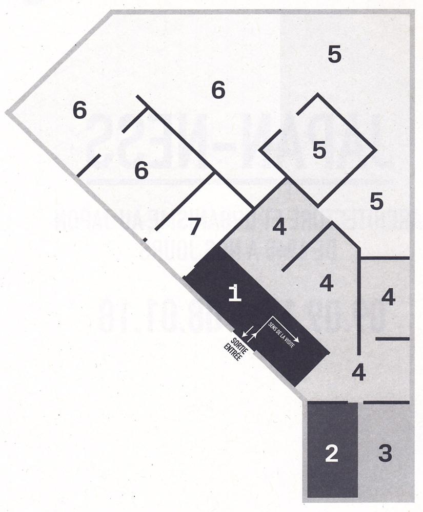 (Plan de l'exposition, par le centre Pompidou-Metz)