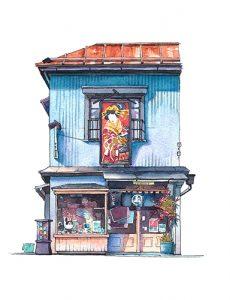 Isetatsu, vendeur de chiyogami